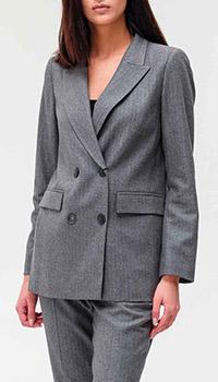 Серый пиджак Twin-Set в полоску, фото