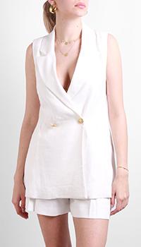 Жилет Max&Moi из белого льна, фото