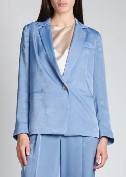 Голубой пиджак Vince прямого кроя, фото