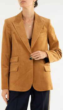 Бархатный пиджак Zadig & Voltaire цвета охры, фото