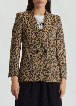 Двубортный пиджак Zadig & Voltaire с леопардовым принтом, фото