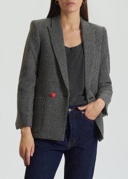 Шерстяной пиджак Zadig & Voltaire с накладными карманами, фото