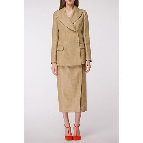 Льняной пиджак Shako цвета золотого песка, фото