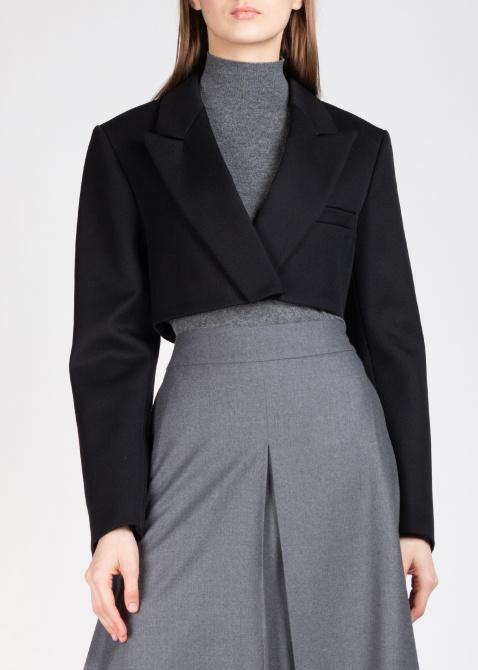 Укороченный жакет Nina Ricci из шерсти черного цвета, фото
