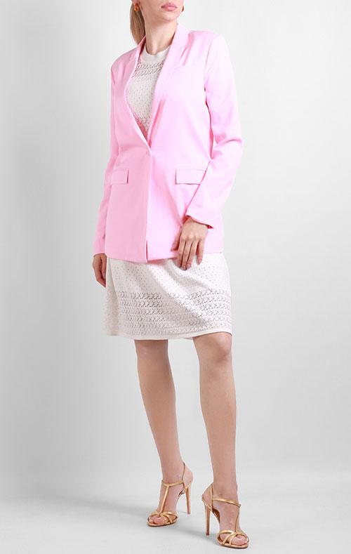 Розовый пиджак Silvian Heach на одну пуговицу, фото