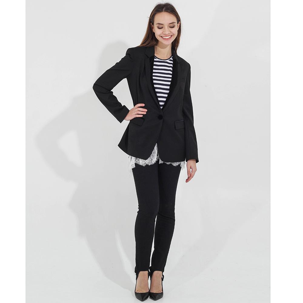 Удлиненный пиджак Compagnia Italiana с бархатной отделкой