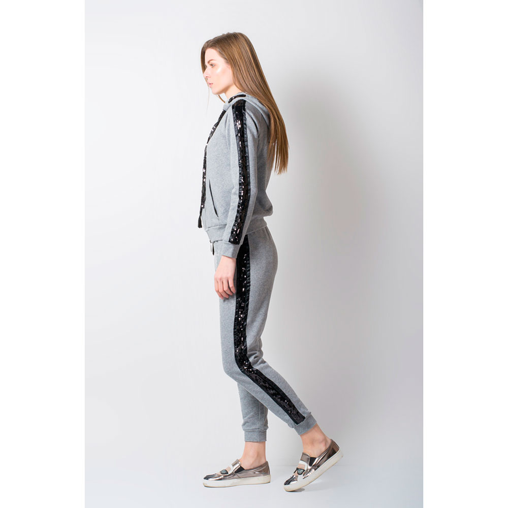 Серый спортивный костюм Rosa Shock с лампасами