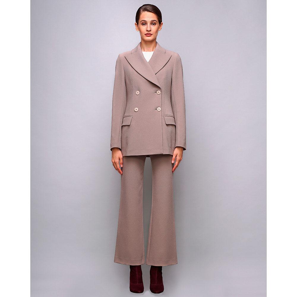 Бежевый двубортный пиджак Shako с широкими лацканами