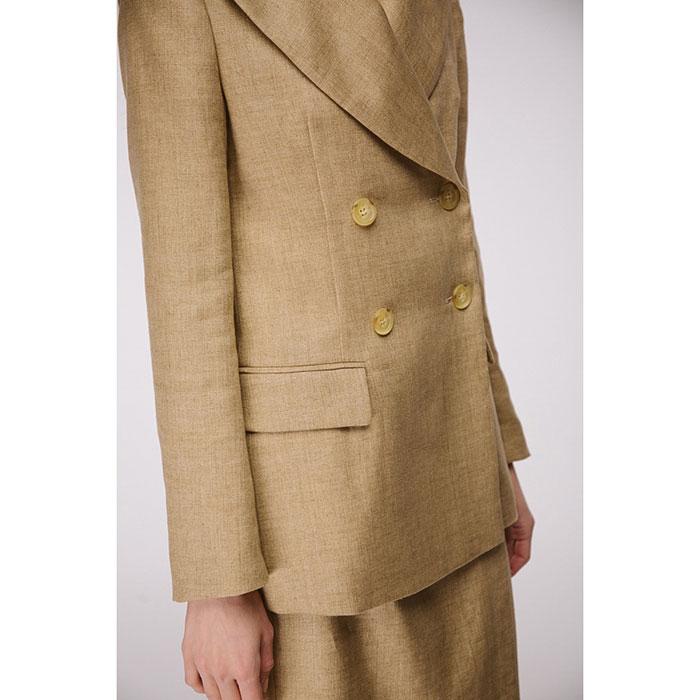 Льняной пиджак Shako цвета золотого песка