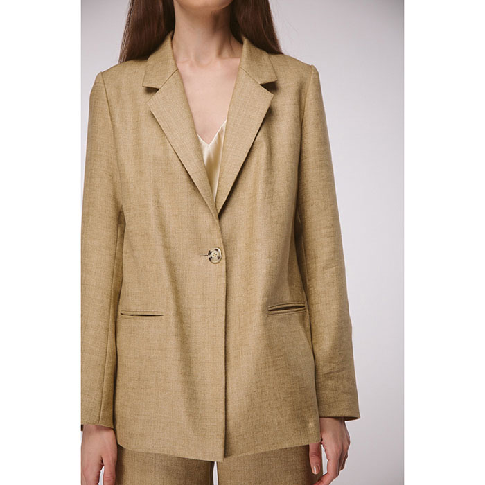 Оверсайз пиджак из льна Shako песочного цвета