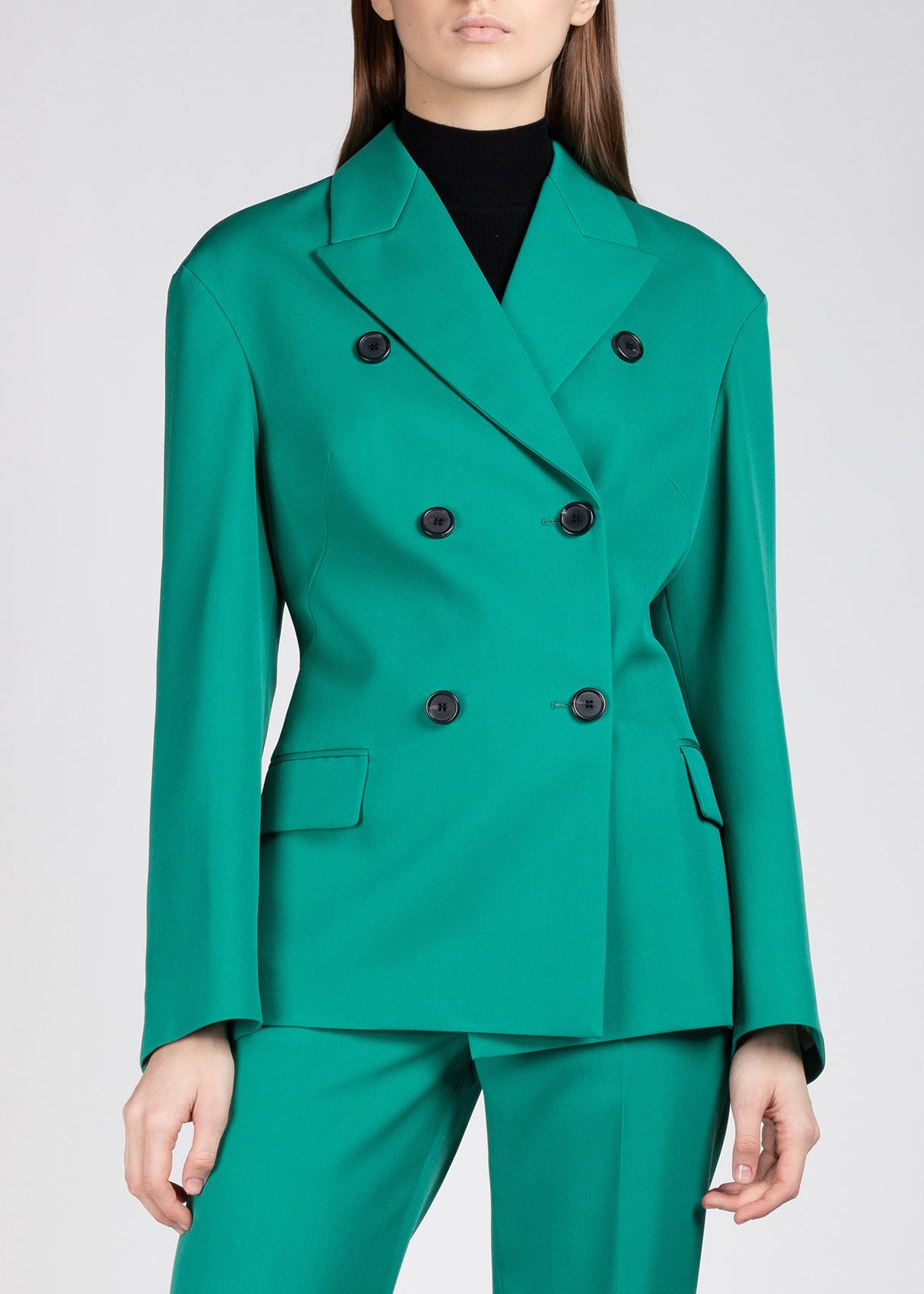 Приталенный пиджак Rochas в зеленом цвете