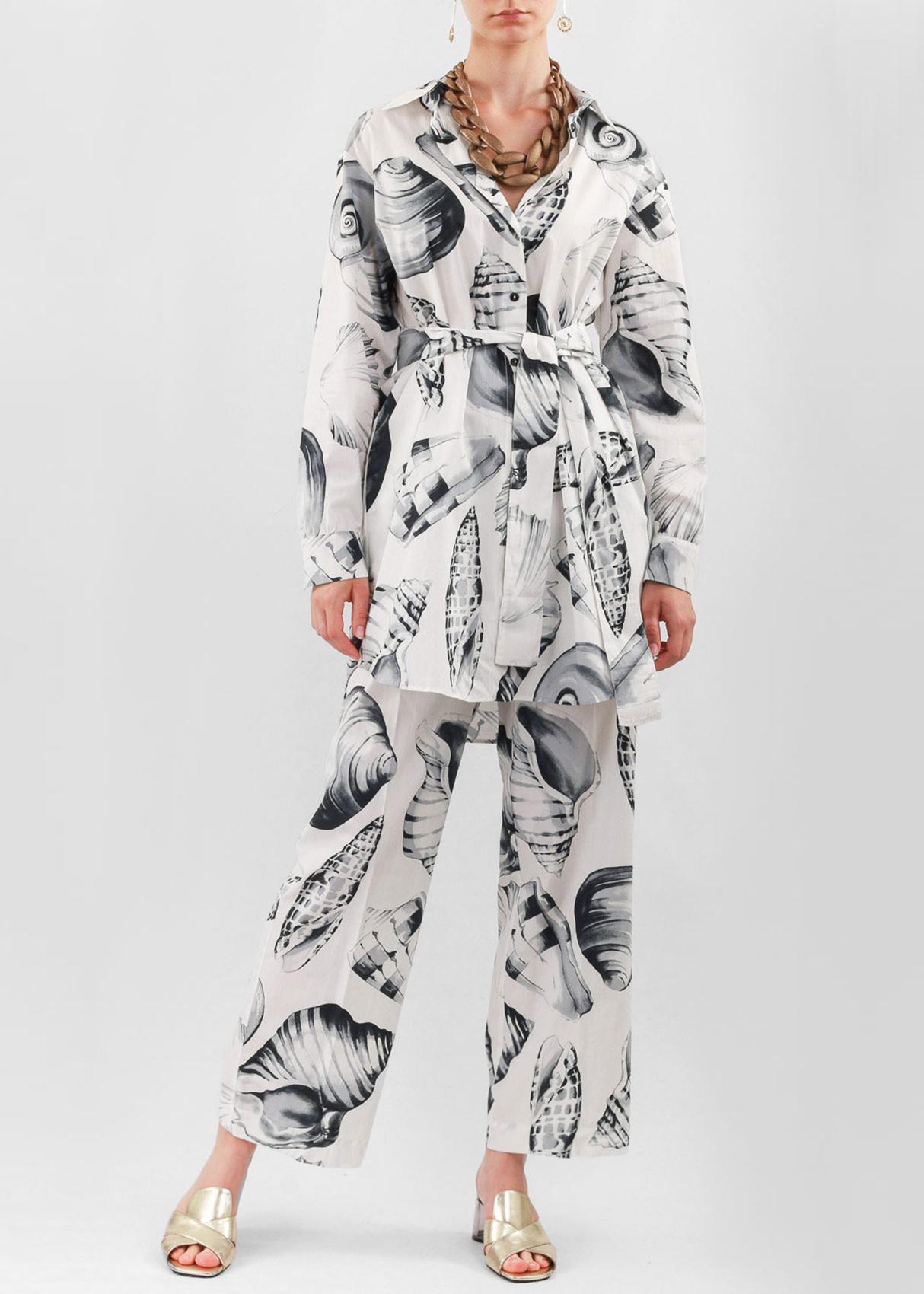 Брючный костюм Twin-Set с принтом-ракушки