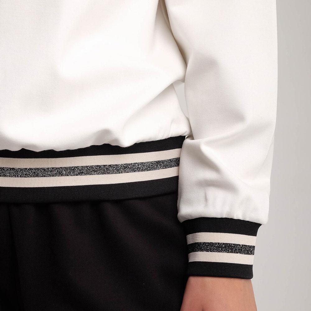 Черно-белый спортивный костюм Twin-Set с сеткой на свитшоте