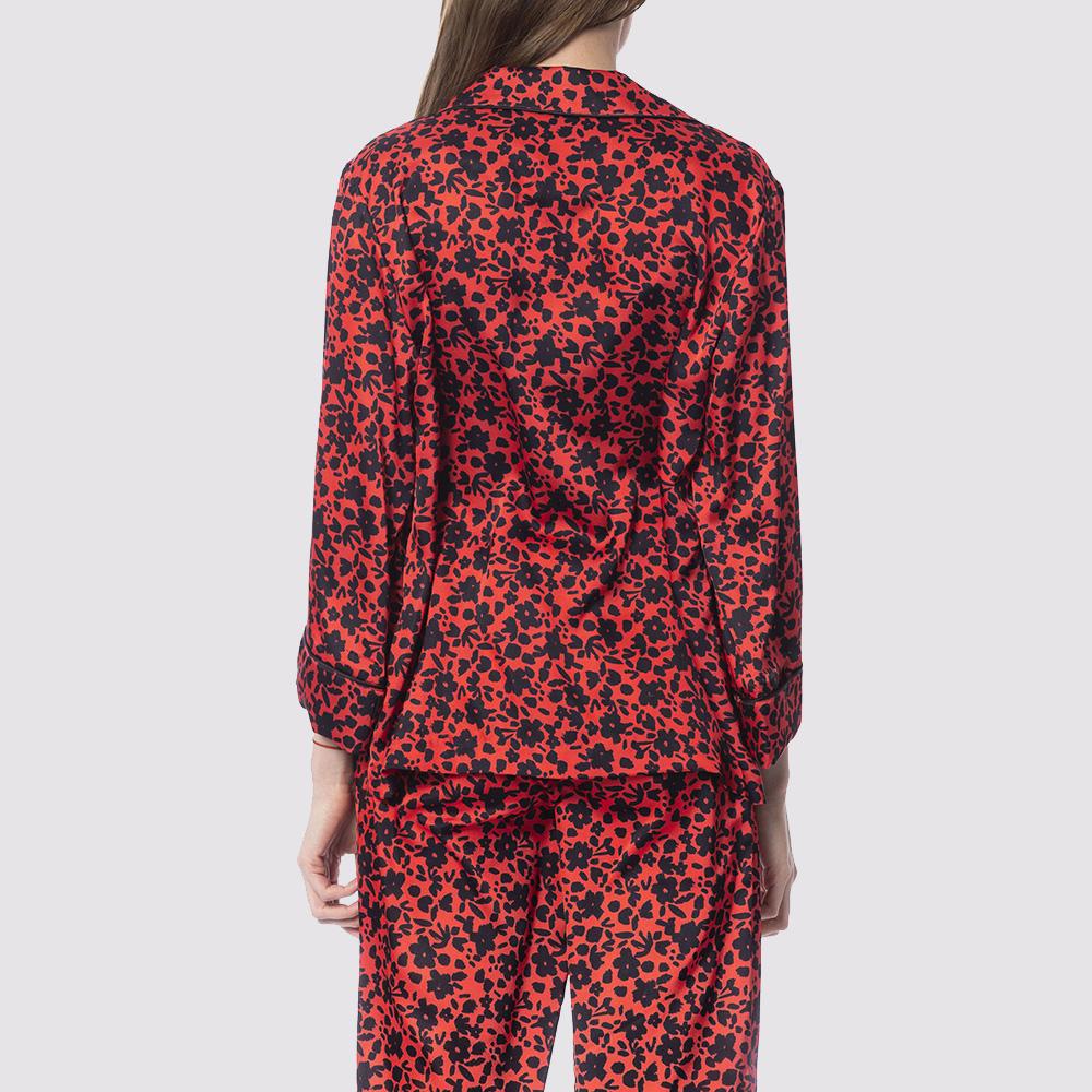 Пиджак без застежек Silvian Heach красно-черного цвета