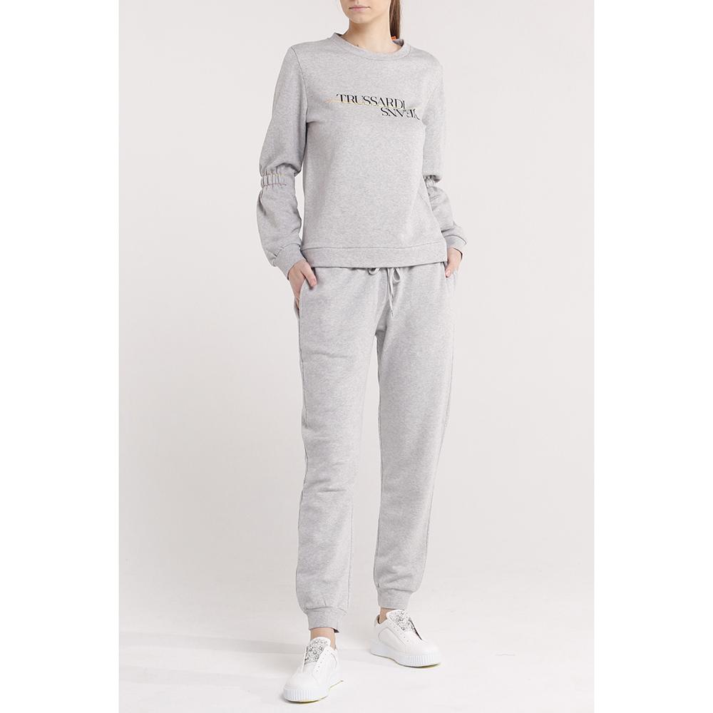 Серый спортивный костюм Trussardi Jeans с лого