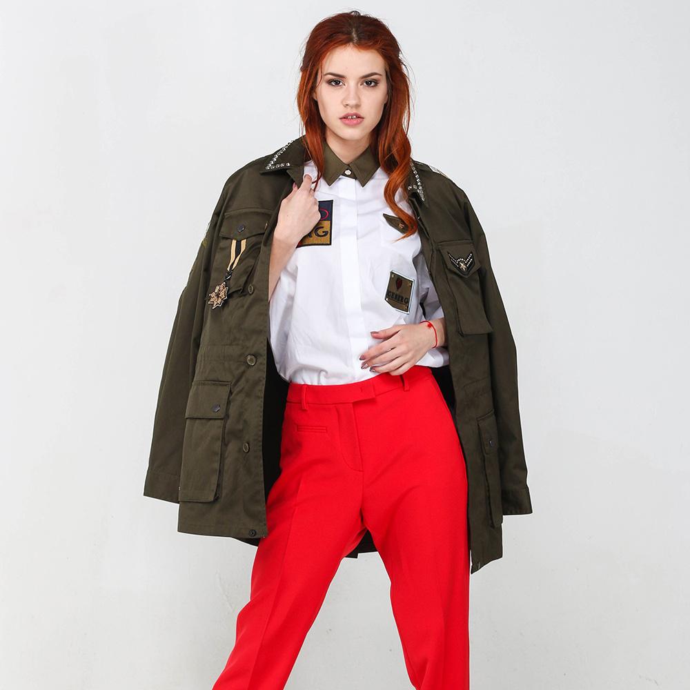 Пиджак Twin-Set цвета хаки