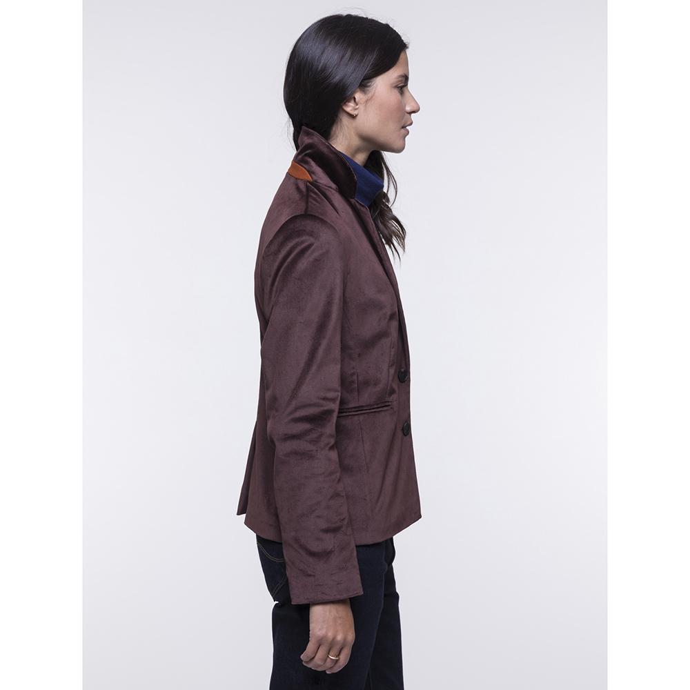 Велюровый жакет Trench & Coat бордового цвета