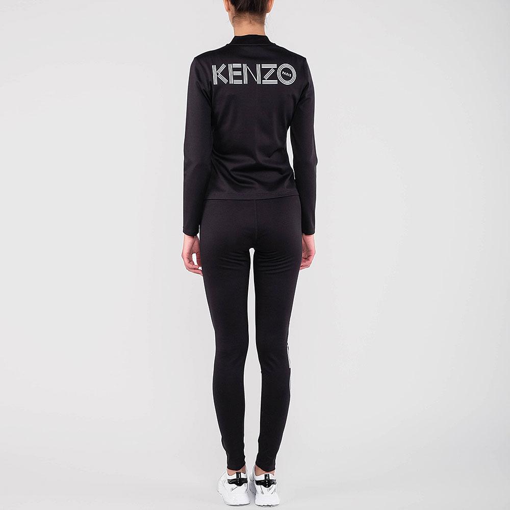 Черный спортивный костюм Kenzo с логотипом