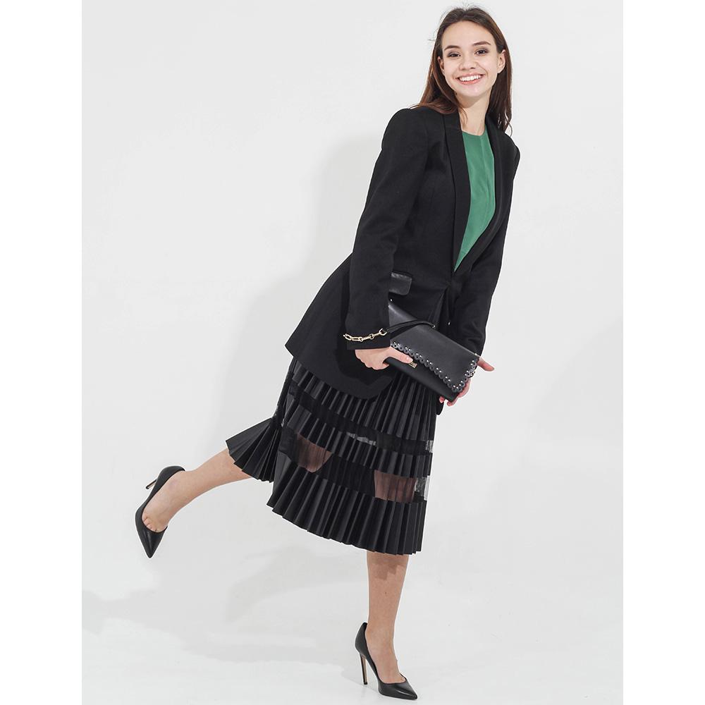 Длинный пиджак Twin-Set черного цвета