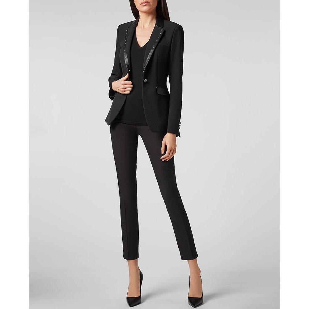Приталенный пиджак Philipp Plein черного цвета