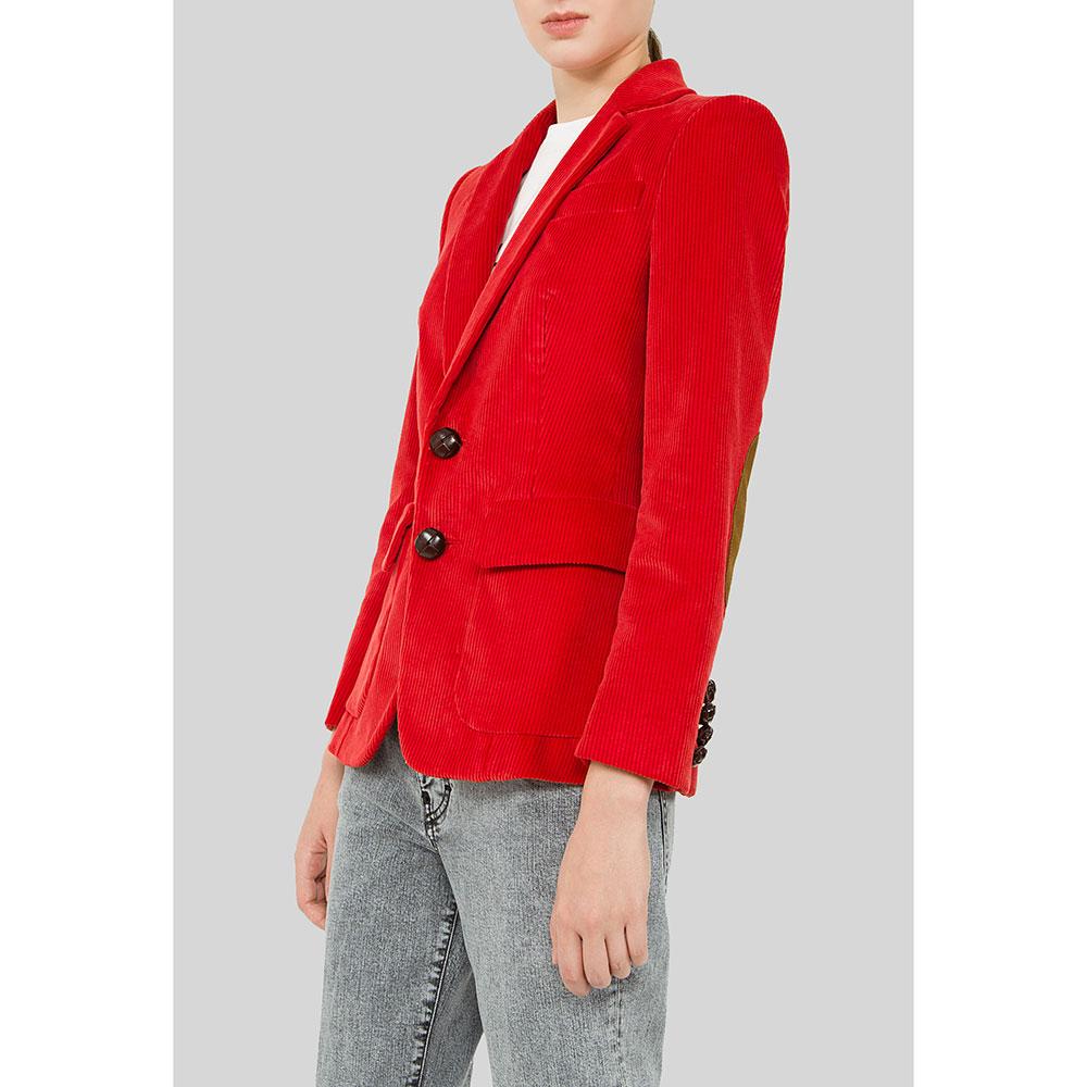 Вельветовый красный пиджак Dsquared2 на пуговицах