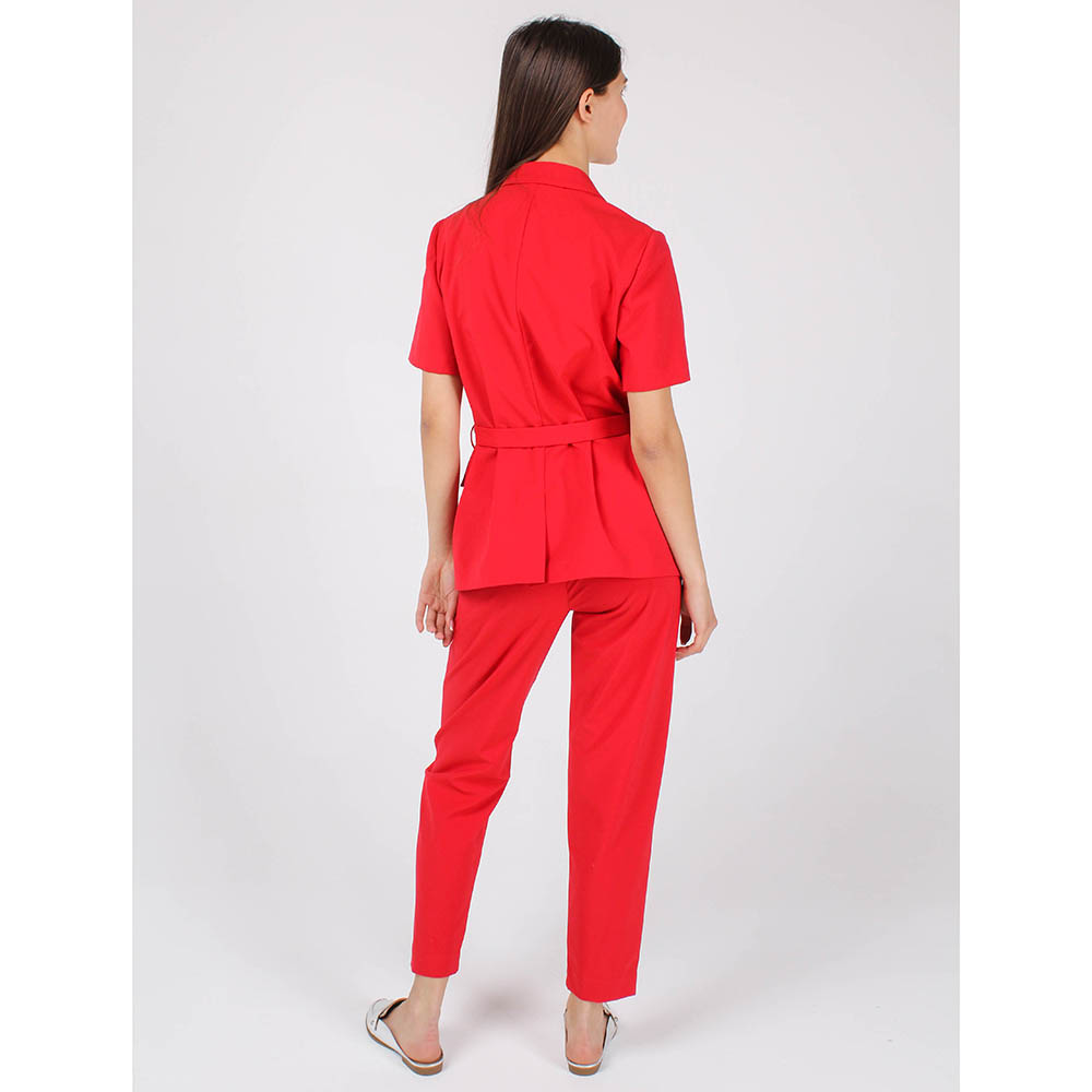 Жакет Armani Jeans красного цвета с поясом