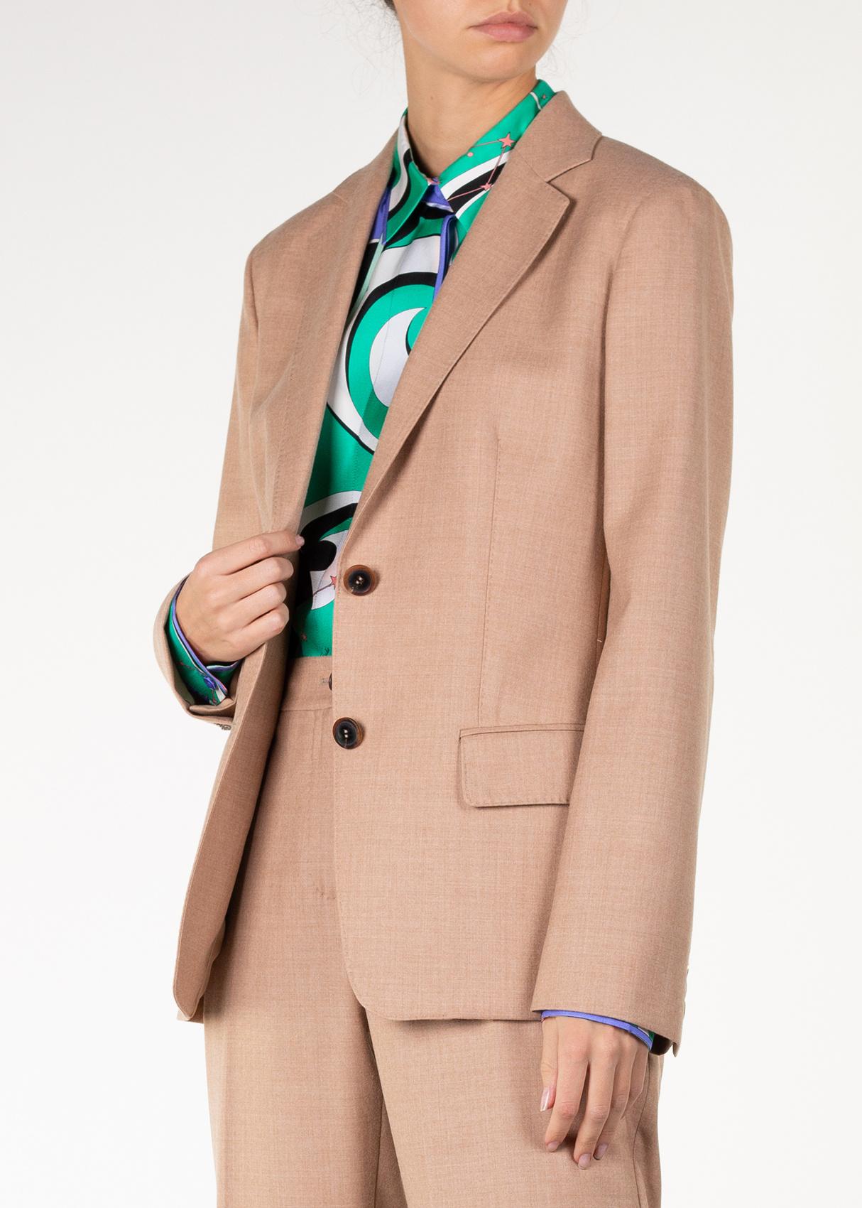 Шерстяной пиджак Agnona бежевого кроя