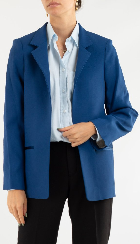 Синий пиджак Zadig & Voltaire с прорезными карманами