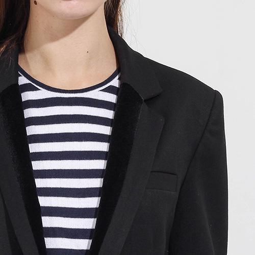 Удлиненный пиджак Compagnia Italiana с бархатной отделкой, фото