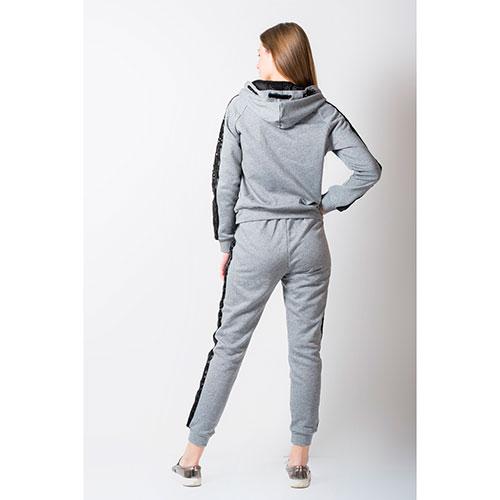 Серый спортивный костюм Rosa Shock с лампасами, фото
