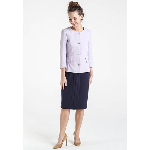 Пиджак сиреневого цвета Shako с укороченным рукавом, фото