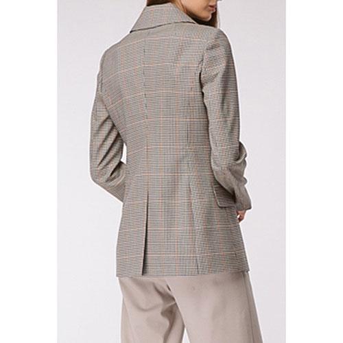 Серый пиджак Shako двубортный в клетку, фото