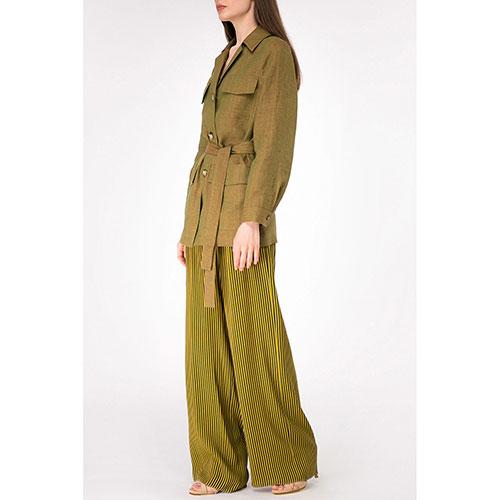 Льняной жакет Shako с накладными карманами, фото