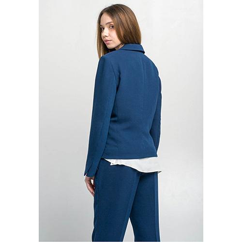Синий брючный костюм Emma&Gaia с пиджаком на одной пуговице, фото