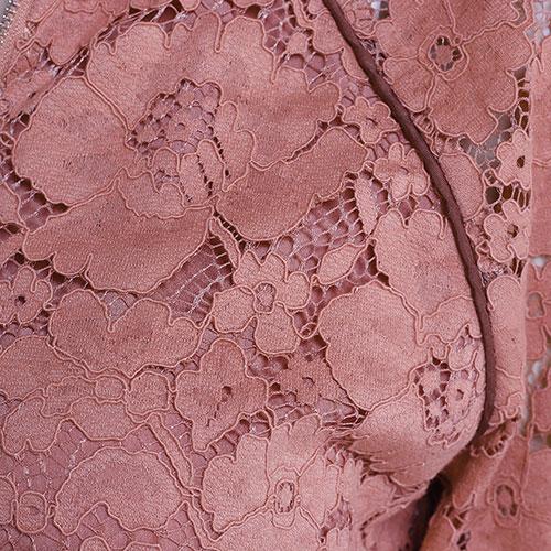 Кружевной костюм Twin-Set терракотового цвета, фото