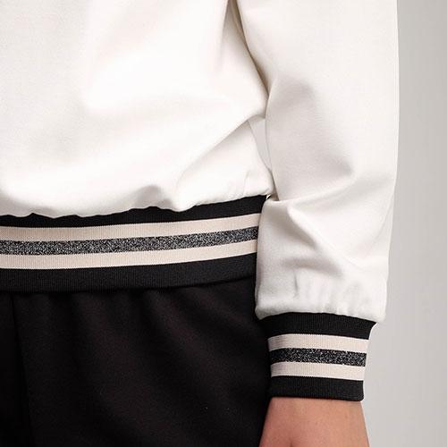 Черно-белый спортивный костюм Twin-Set с сеткой на свитшоте, фото