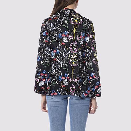 Черный пиджак Silvian Heach с цветочным принтом, фото