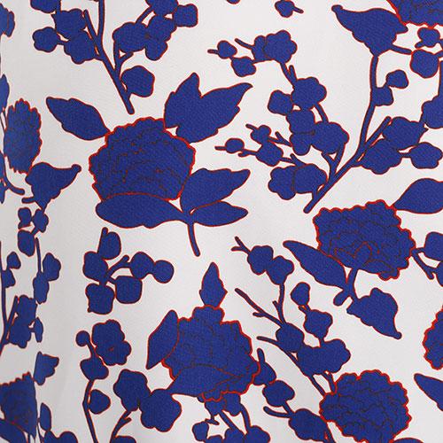 Костюм Pinko с цветочным принтом синего цвета, фото