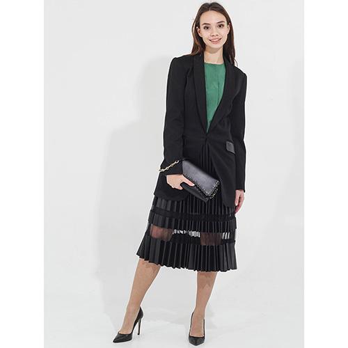 Длинный пиджак Twin-Set черного цвета, фото