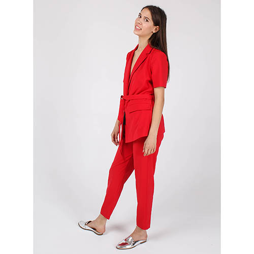 Жакет Armani Jeans красного цвета с поясом, фото