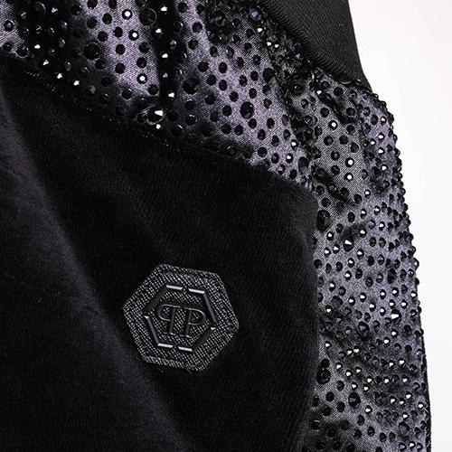 Черный костюм Philipp Plein с декором-стразами, фото