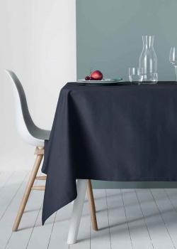 Льняная скатерть Degrenne Paris Linge de Table темно-синего цвета, фото