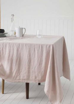 Льняная скатерть Degrenne Paris Linge de Table розового цвета, фото