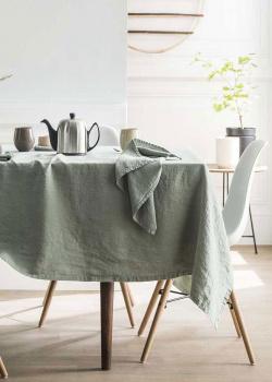 Скатерть Degrenne Paris Linge de Table зеленого цвета, фото