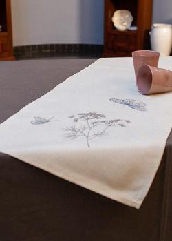 Раннер с вышивкой Villa Grazia Нежные бабочки 40х160см, фото