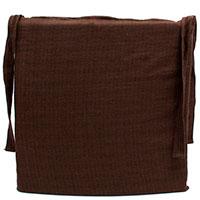 Подушка для стула Emilia Arredamento коричневая 40х40см, фото