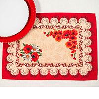 Текстильная салфетка Emilia Arredamento Маки 35х45см, фото