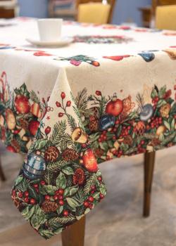 Скатерть Villa Grazia Premium Краски Рождества 140х140см, фото