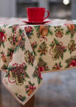 Скатерть Villa Grazia Новогодние свечи 160х320см, фото