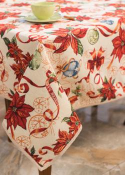 Скатерть Villa Grazia Цветущее Рождество 140х140см, фото